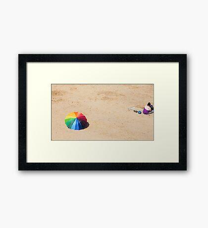 The Brolly Framed Print