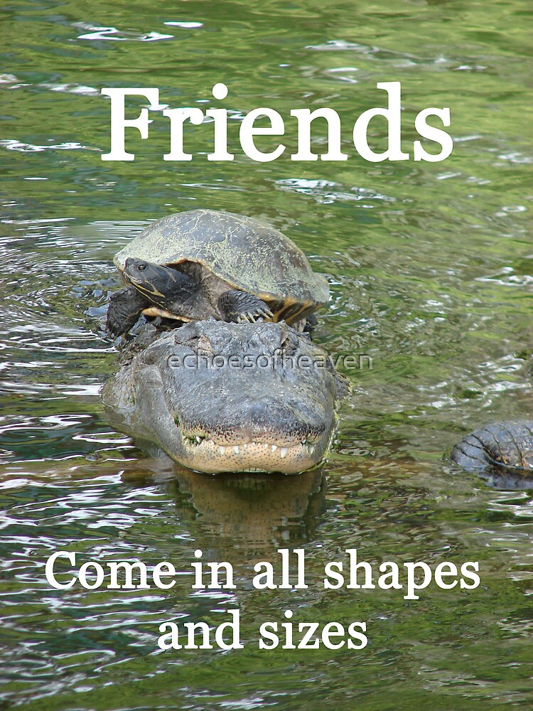 """""""Friends come in all shapes and sizes""""  by Carter L. Shepard by echoesofheaven"""