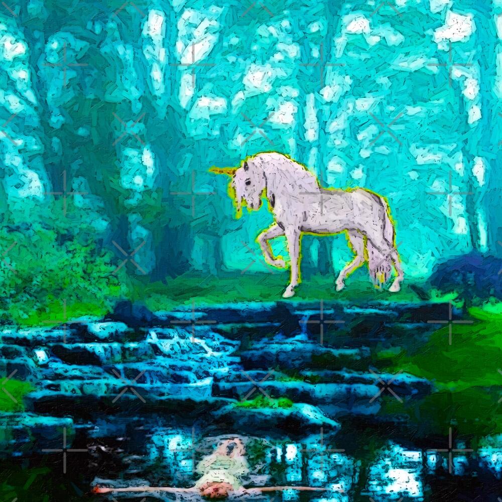 Ophelia and the Unicorn by Gal Lo Leggio
