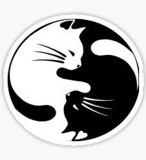 Ying yang cat Sticker