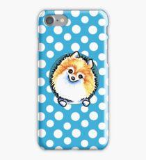 Pomeranian Pretty Polka Dot Blueberry iPhone Case/Skin