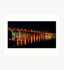 Red Bridge Art Print