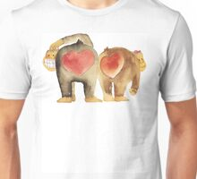 Valentine's Day Abstract Love Monkeys T-Shirt Unisex T-Shirt
