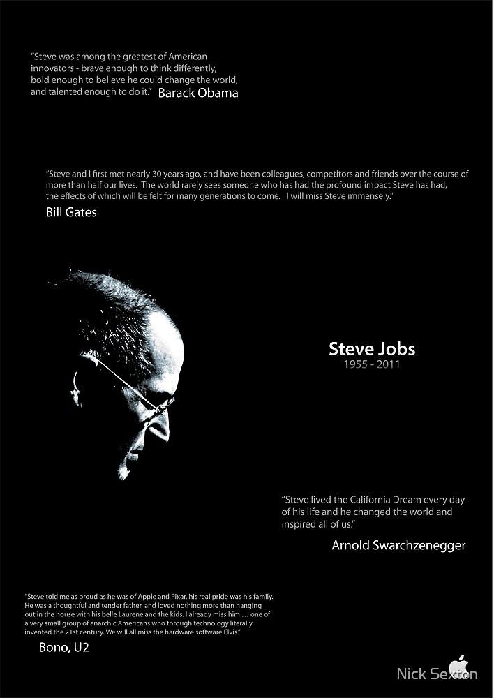 Steve Jobs Poster by Nick Sexton
