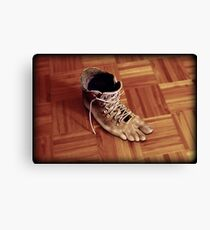 Run Rene boots run Canvas Print