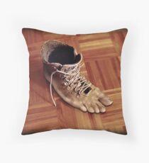 Run Rene boots run Throw Pillow