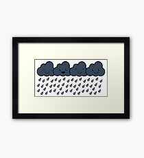 Happy Rain Clouds Framed Print