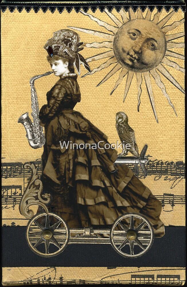 Magic Masquerade Train - Hassadah & her Saxophone by WinonaCookie