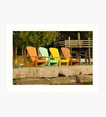 Sunny Chairs Art Print
