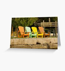 Sunny Chairs Greeting Card