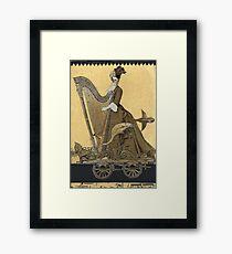Magic Masquerade Train - Hannah & her Harp Framed Print