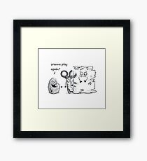 Rock Beats Scissors & Paper Framed Print