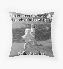 """Philippians 3:14"" by Carter L. Shepard Throw Pillow"