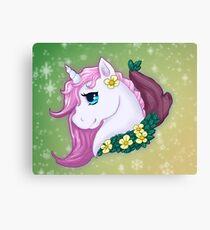 Unicorn Bust Canvas Print