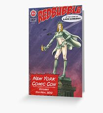 Redbubble at New York Comic Con 2012 Greeting Card