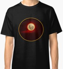 Red Moon with cloud Classic T-Shirt