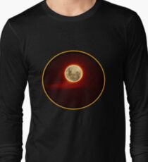 Red Moon with cloud Long Sleeve T-Shirt