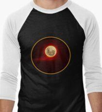 Red Moon with cloud Men's Baseball ¾ T-Shirt