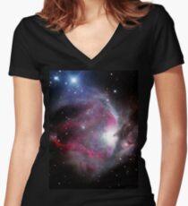 Orion Nebula Women's Fitted V-Neck T-Shirt