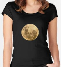 Moon on the man Women's Fitted Scoop T-Shirt