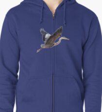 Great Blue Heron Zipped Hoodie