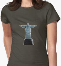 Christ the redeemer Women's Fitted T-Shirt