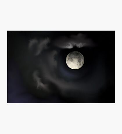 Night of the Blue Moon Photographic Print