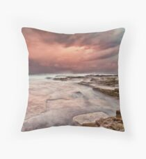 Chalky Beach Throw Pillow