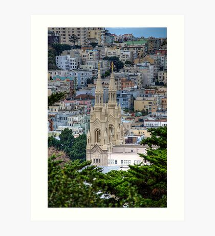 Saints Peter and Paul Church In SanFrancisco Art Print