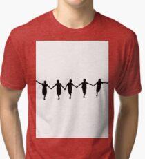 Running Happy Children Tri-blend T-Shirt