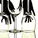 Abstract Hands and Wine Glasses by BlinkImages