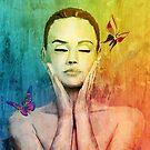 Goddess in water color by John Ryan