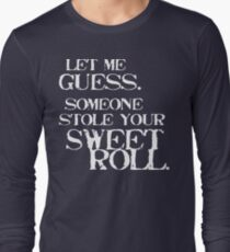 Sweetroll 1 White for low necked Long Sleeve T-Shirt
