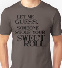 Sweetroll 1 Black for low necked Unisex T-Shirt