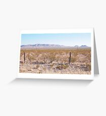 Volcanoes on the West Texas Plain Greeting Card