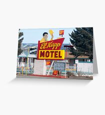 El Kapp motel in Raton, New Mexico Greeting Card