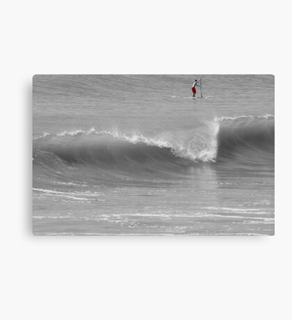 Wave and Paddler Canvas Print