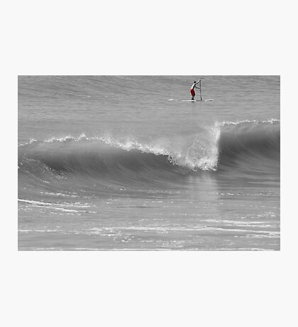 Wave and Paddler Photographic Print