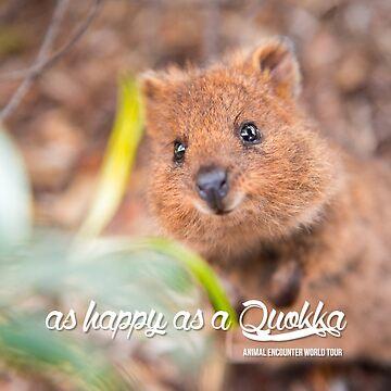 as Happy as a Quokka #1 by wildlifestyleco