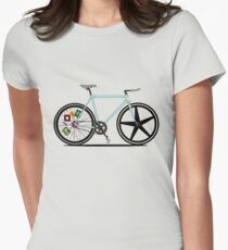 Fixie Bike Women's Fitted T-Shirt