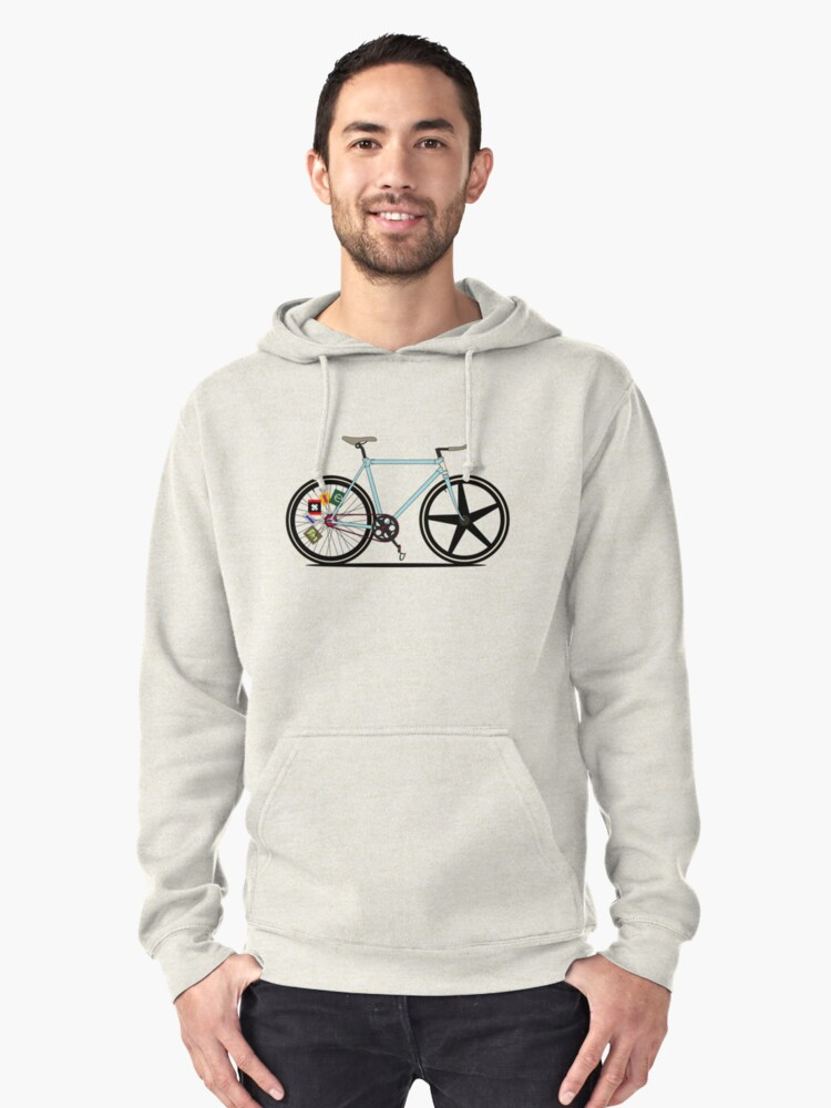 Fixie Bike Pullover Hoodie Front