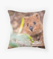 as Happy as a Quokka #1 Throw Pillow