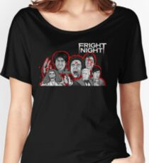 fright night character collage Women's Relaxed Fit T-Shirt