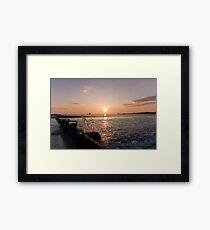 Splashy sunrise Framed Print