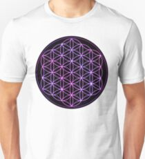 Flower of Life - Pink to Purple Unisex T-Shirt