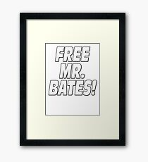 Free Mr. Bates Downton Abbey Framed Print