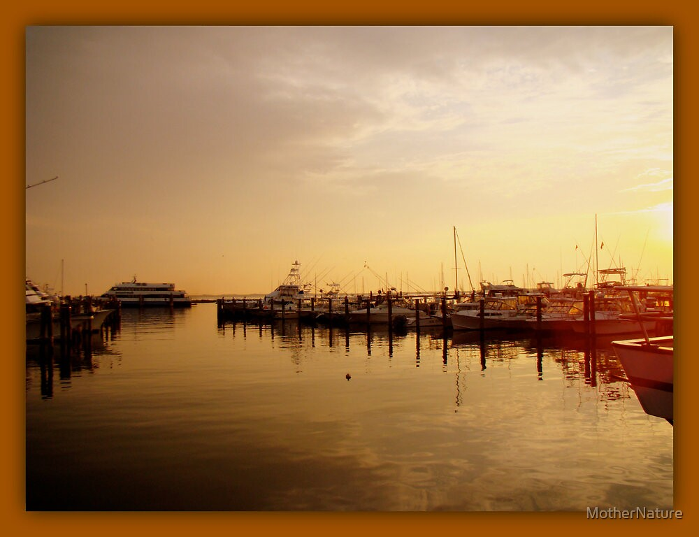 A New Day Beings on the Water - Atlantic Highlands  - NJ by MotherNature