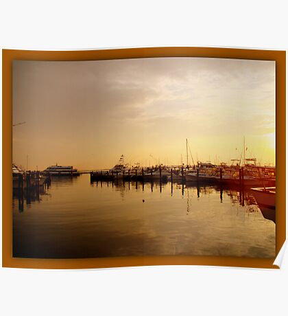A New Day Beings on the Water - Atlantic Highlands  - NJ Poster