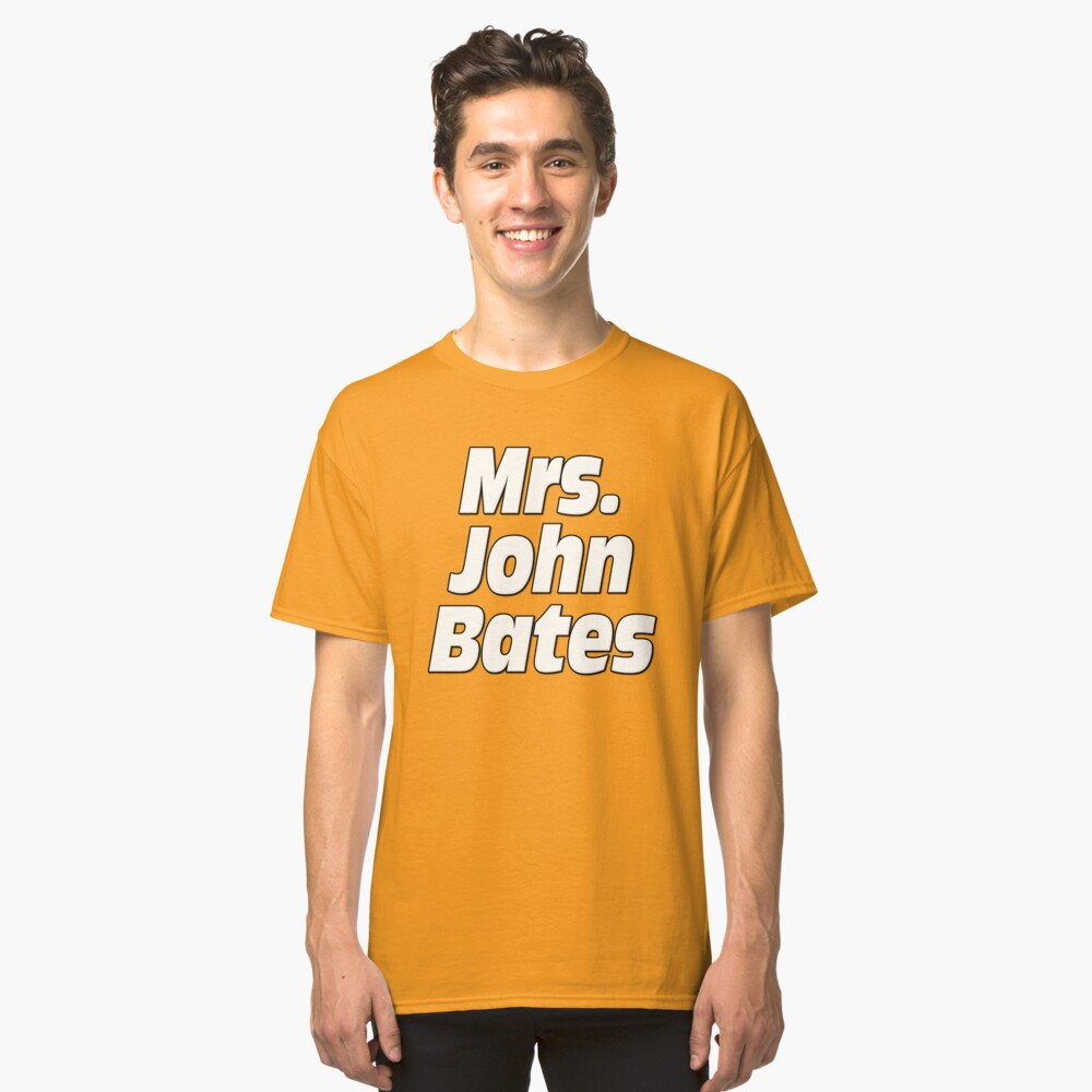 Mrs. John Bates Downton Abbey Classic T-Shirt Front
