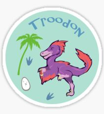 Cute Troodon Sticker